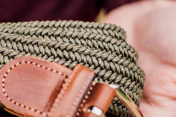 details cuir ceinture atelier particulier elastique