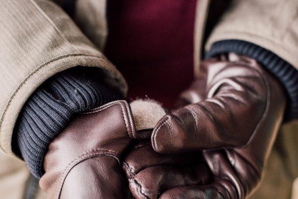 details gants cuir atelier particulier
