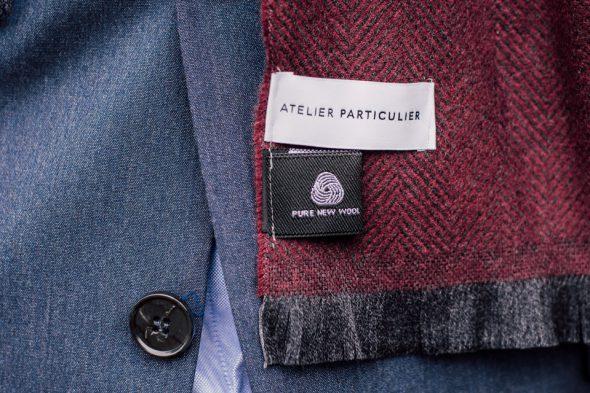 echarpe laine chevrons atelier particulier