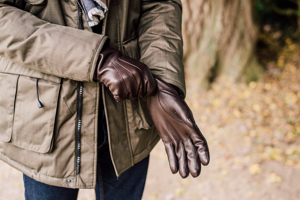 gants cuir atelier particulier chocolat