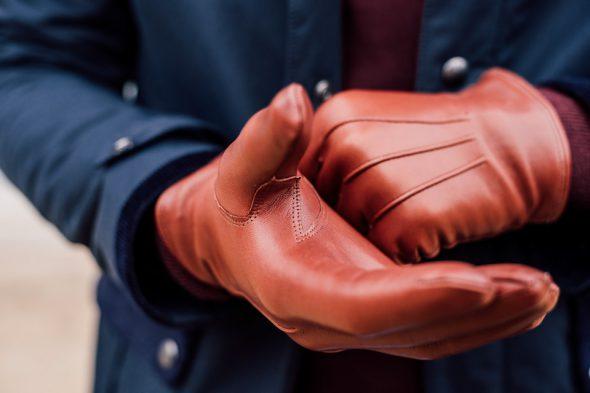 gants cuir cognac atelier particulier