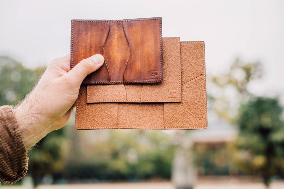 portefeuilles cuir atelier particulier