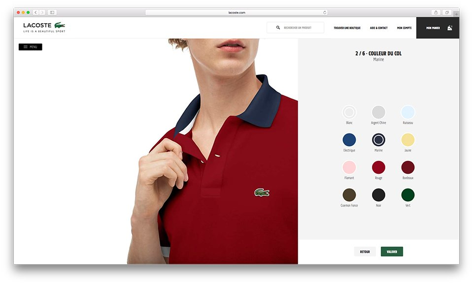 Lacoste Personnalisation Col