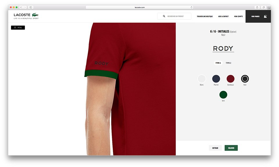 Lacoste Personnalisation Initiales