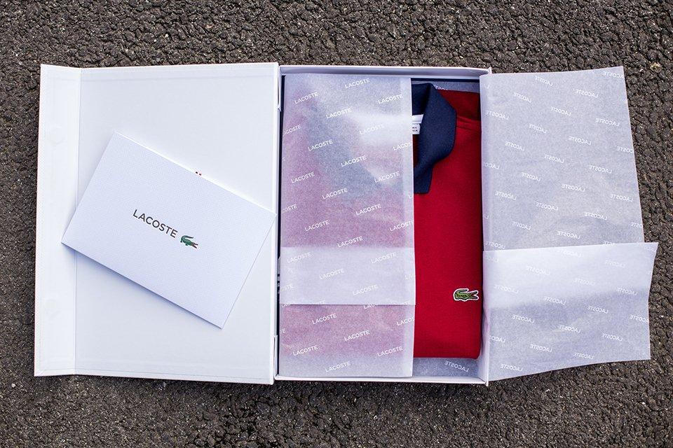 Lacoste Polo Boite Ouverte Papier