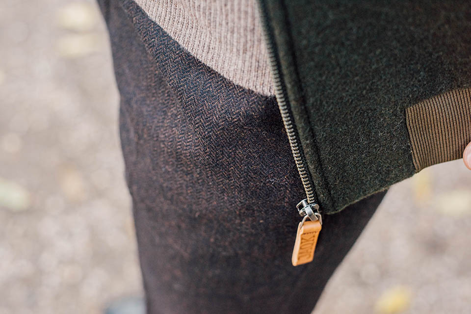 look max jaqk details chevrons pantalon