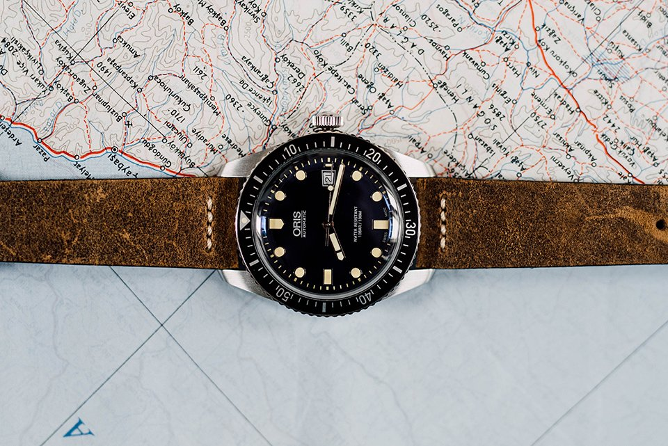 Montre Oris Divers Sixty Five 42mm index