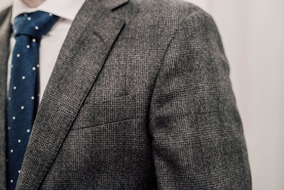 Costume Hackett Detail Poche Poitrine