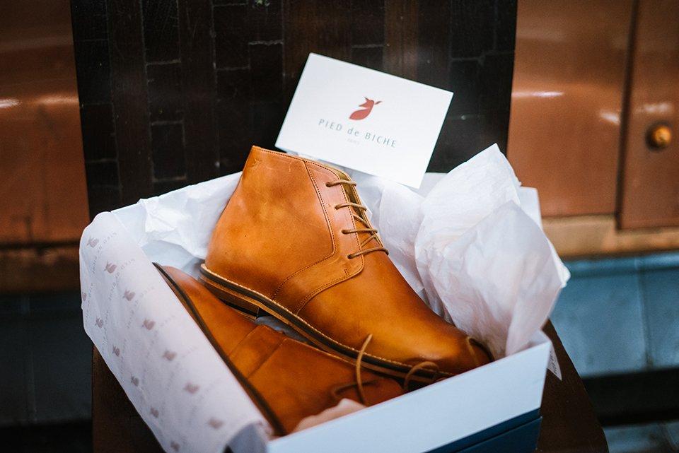 Pied de Biche Chukka Chaussures Boite