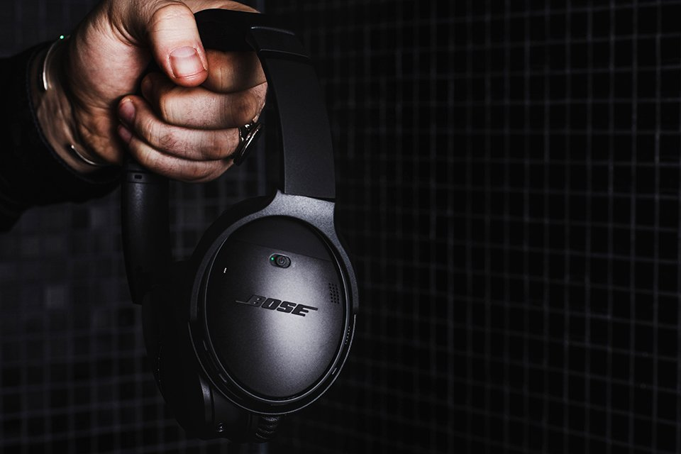 Bose QC35II On Off