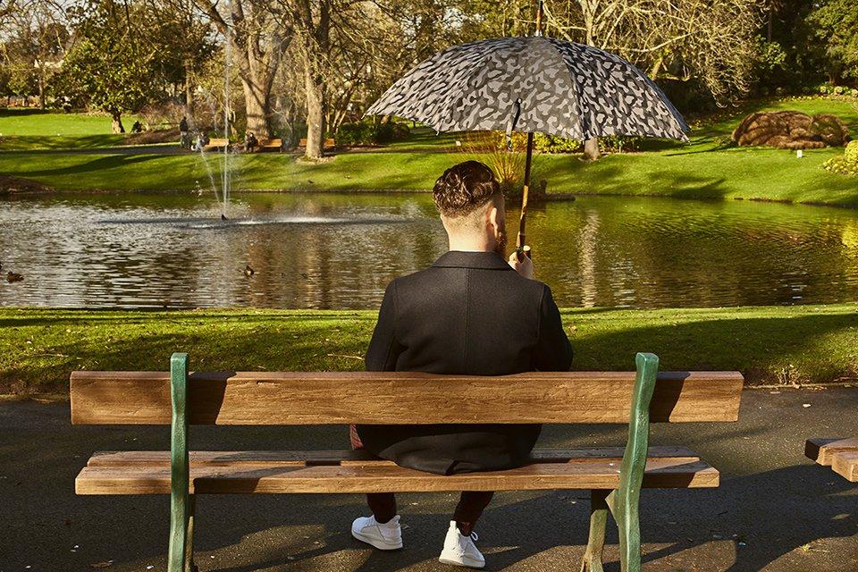 Look Jardin Banc Parapluie