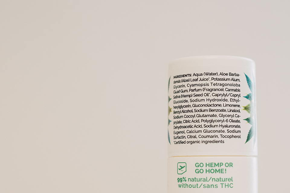Deodorant Ho Karan Composition