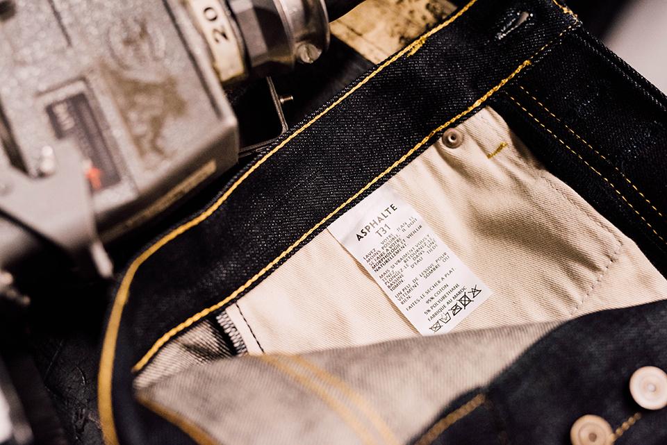 Jeans Asphalte Poche Interieur