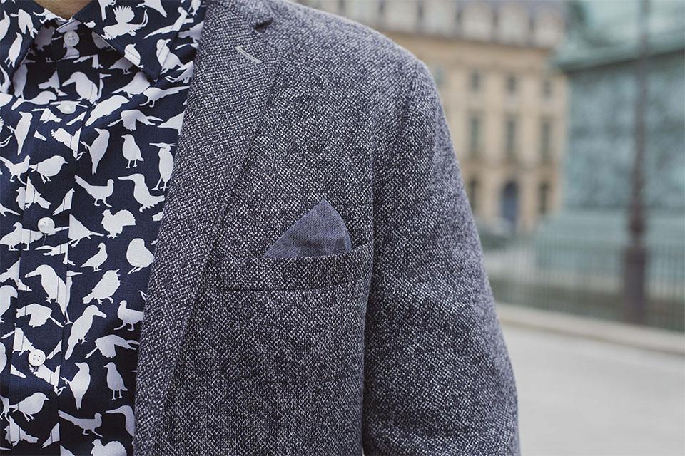 detail poche blazer selected