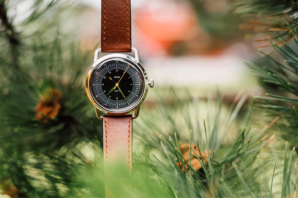 montre rezin focus cadran bracelet cuir