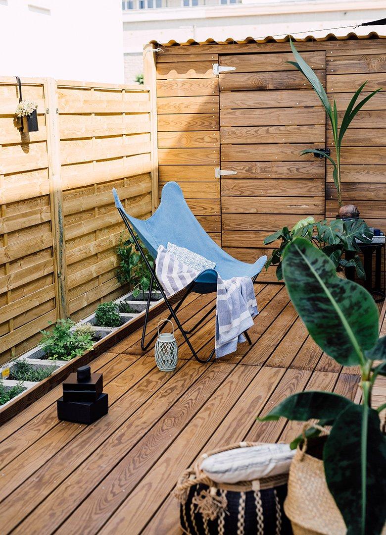 Terrasse abris jardin