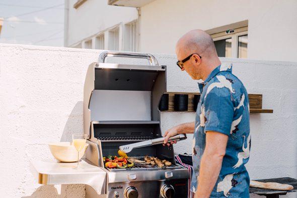 Terrasse barbecue dos