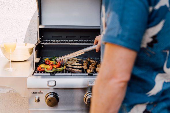 Terrasse barbecue vegetarien