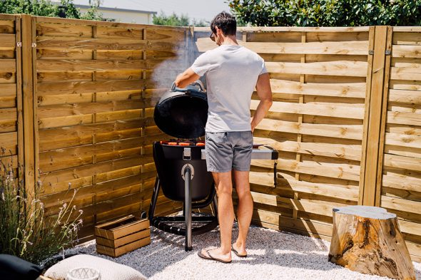 Terrasse Charbroil cuisson