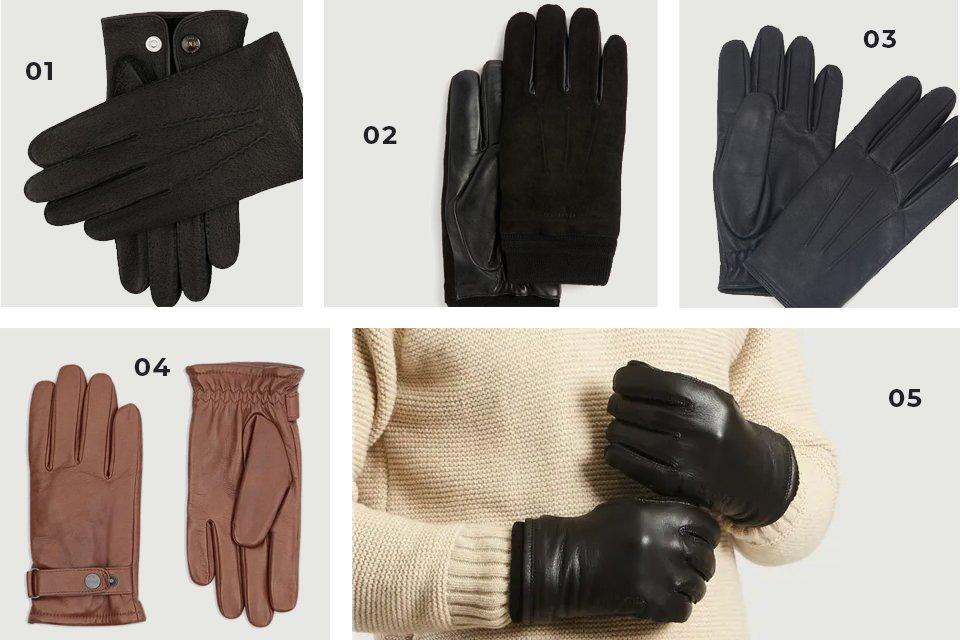 gants cuir en soldes ah20