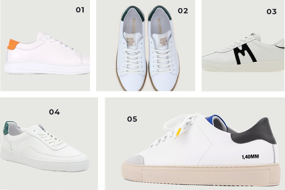 selection soldes baskets blanches basses SS21