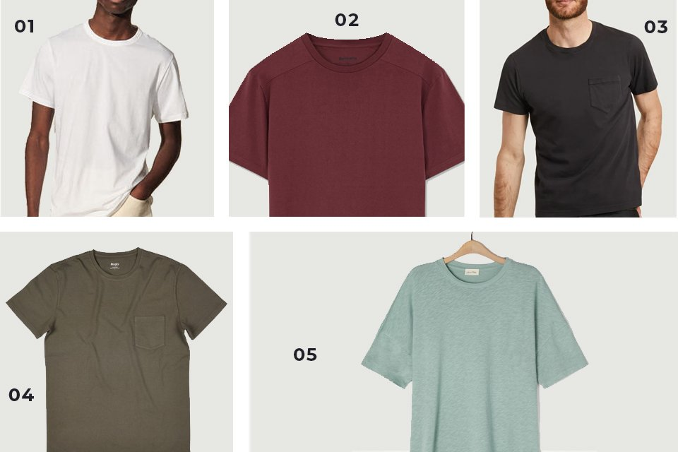 selection soldes t shirts unis SS21