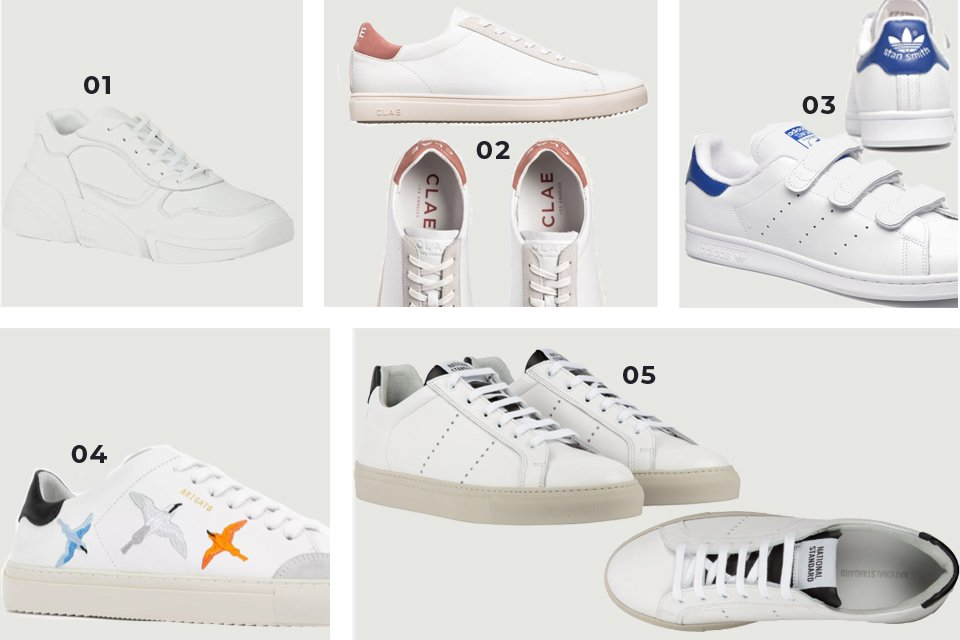 sneakers blanches soldes FW20
