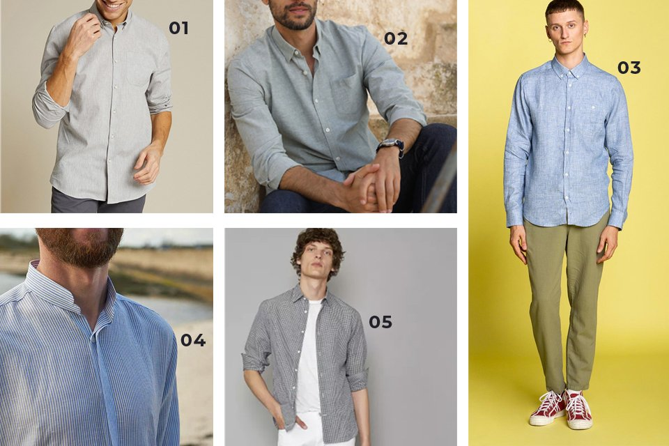 soldes ss21 chemises lin