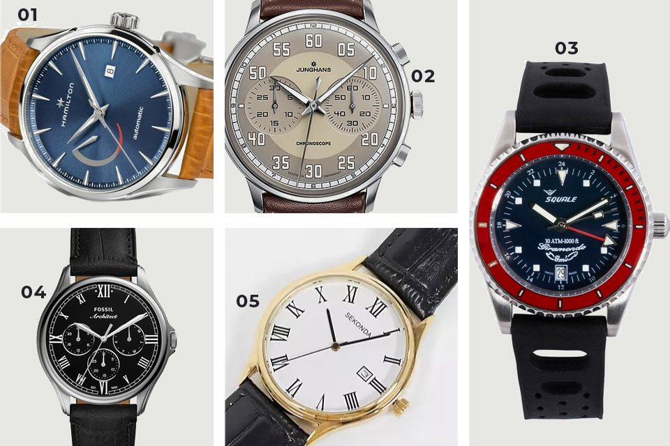soldes ss21 montres bracelet cuir