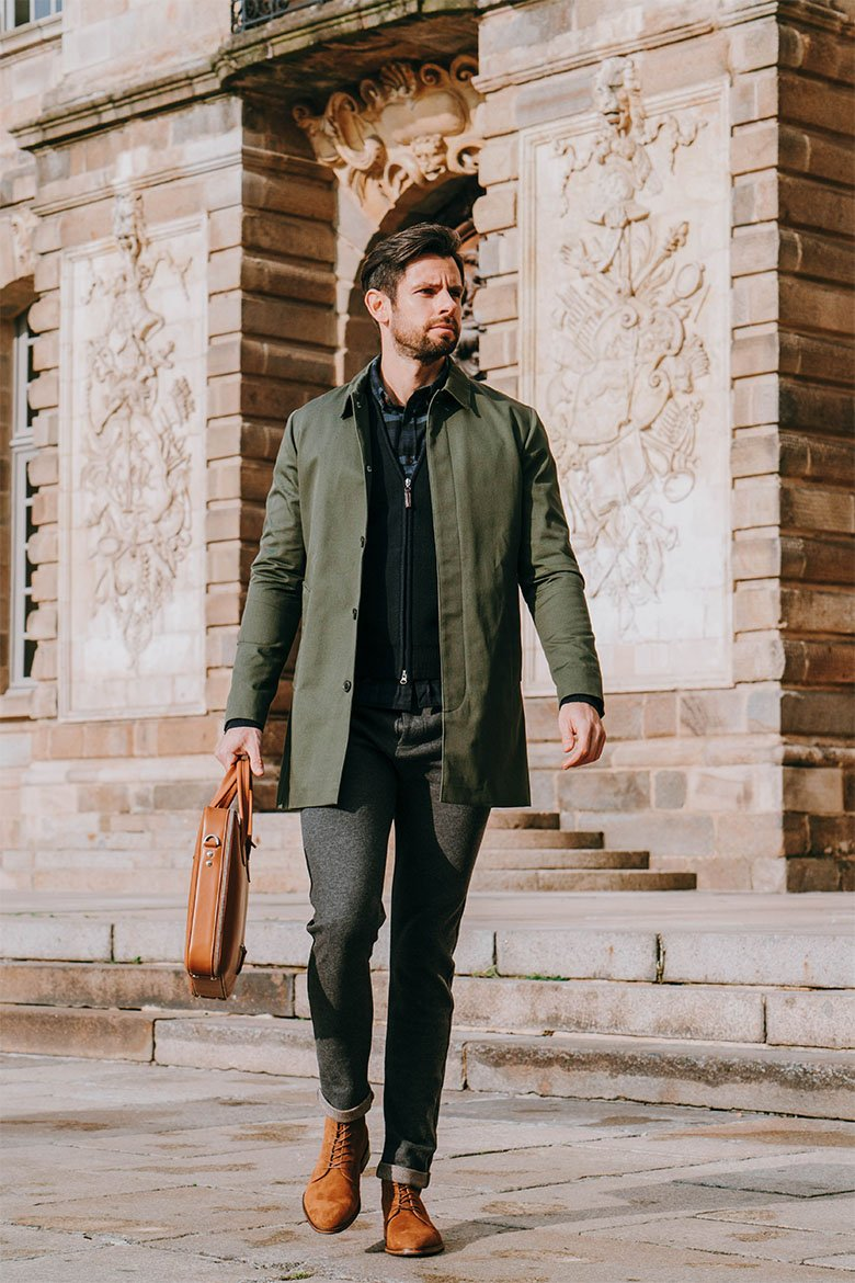 look homme automne hiver mackintosh