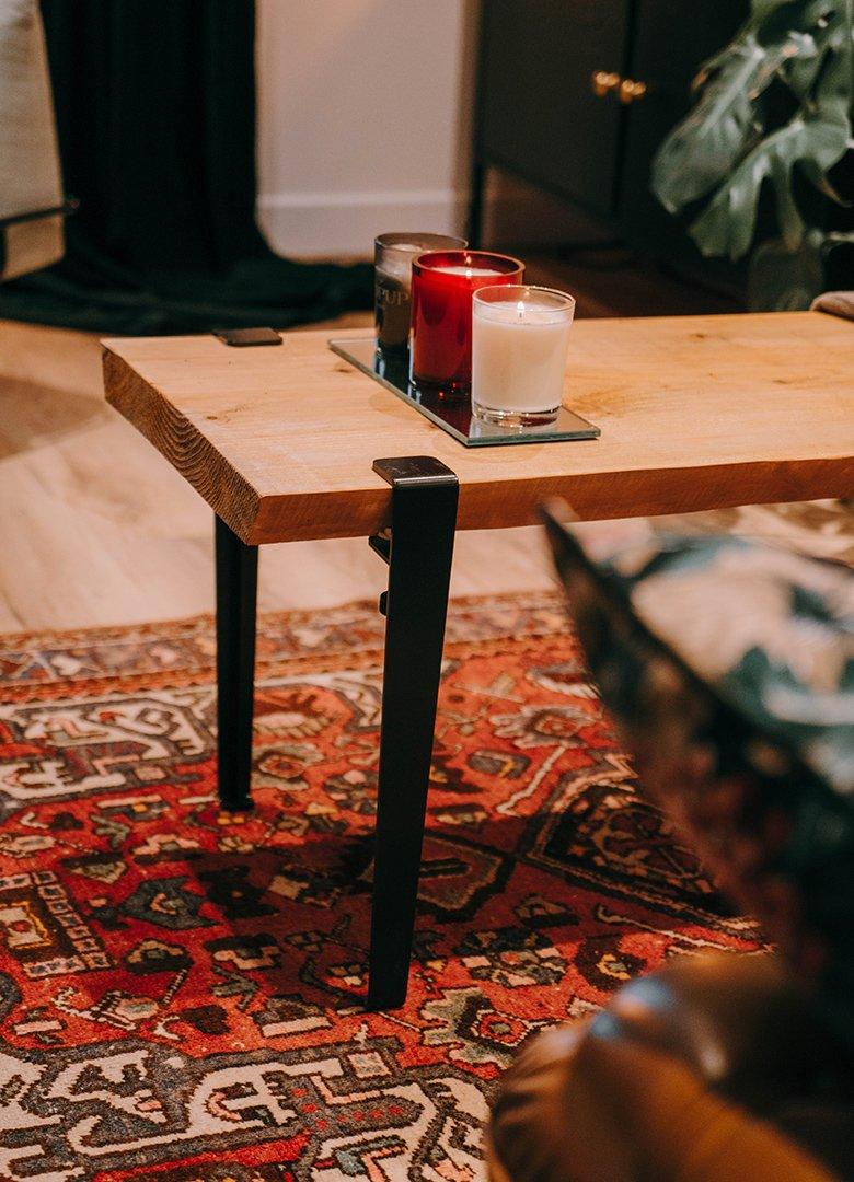 bougies table salon