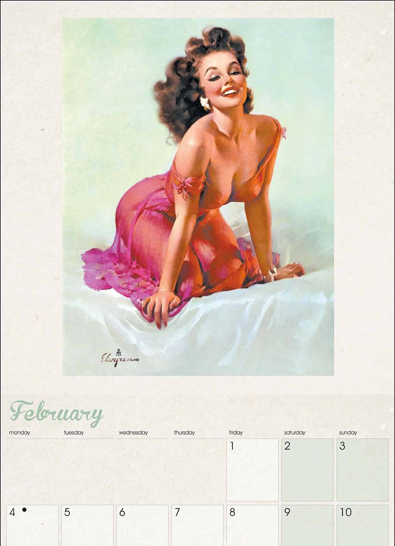 calendrier pin up 2019