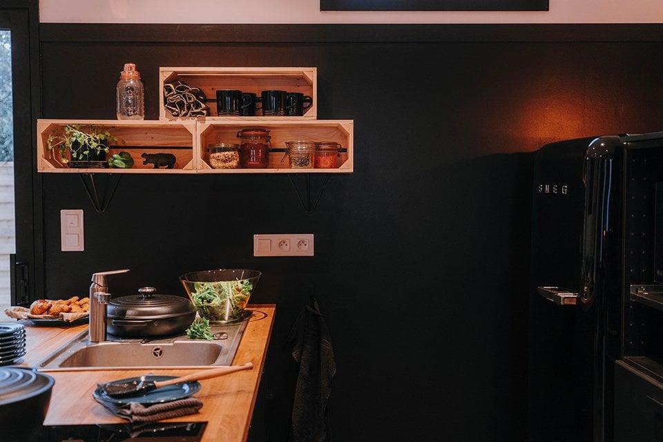 La Cuisine Mur Noir
