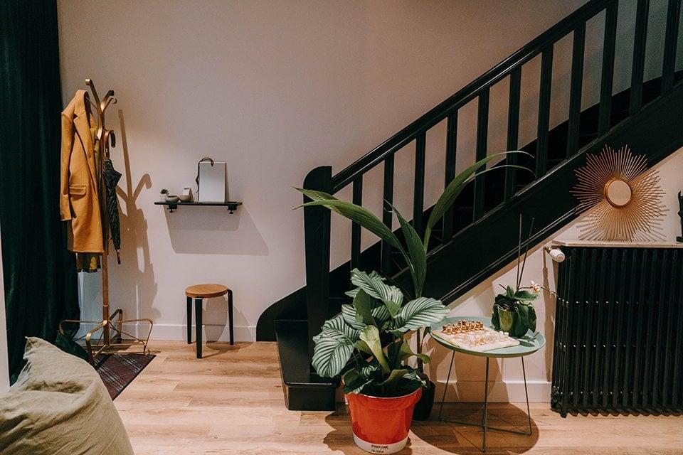 porte manteaux escalier maison