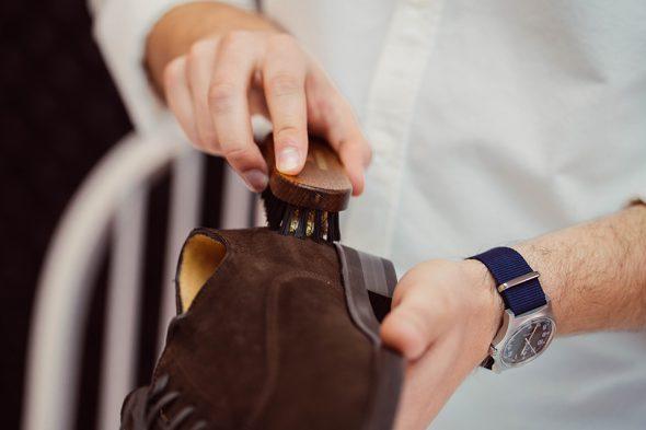 Entretien Cuir Brosse Laiton Chaussure
