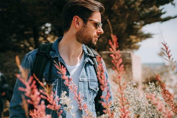 idee look homme printemps veste en jean