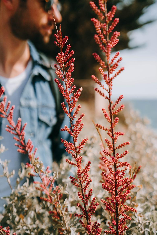 look homme printemps fleurs