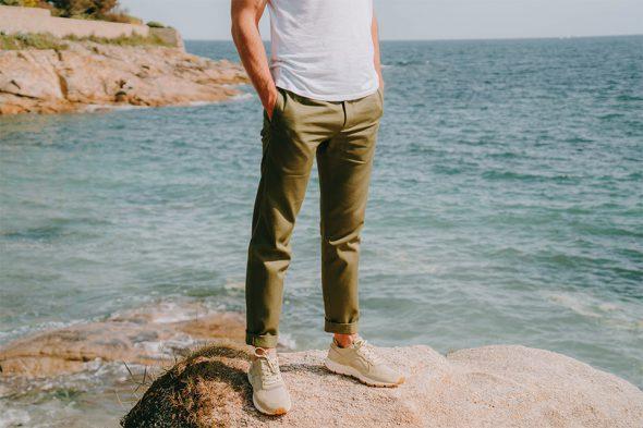 look homme tenue printemps pantalon kaki bellerose