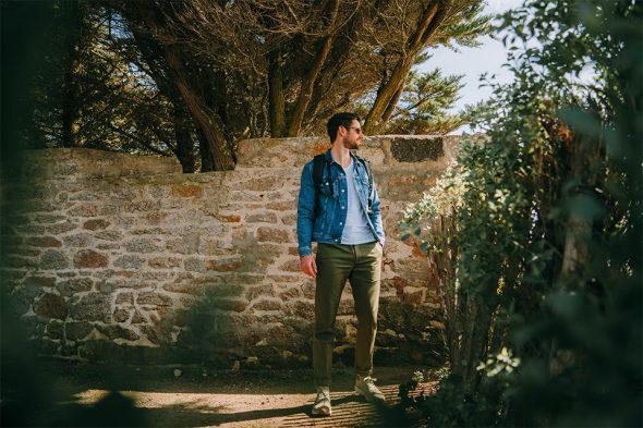 total look homme printemps avec veste en jean