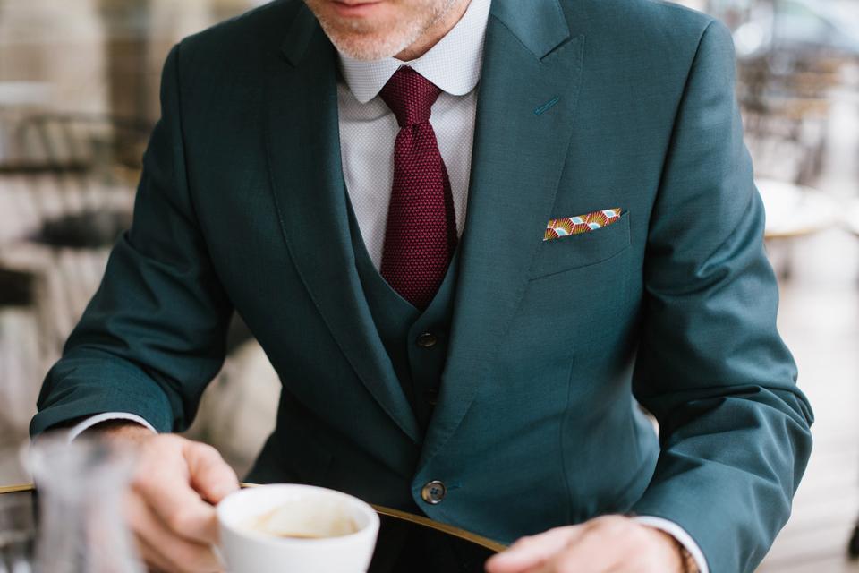 Samson look focus col cravate pochette