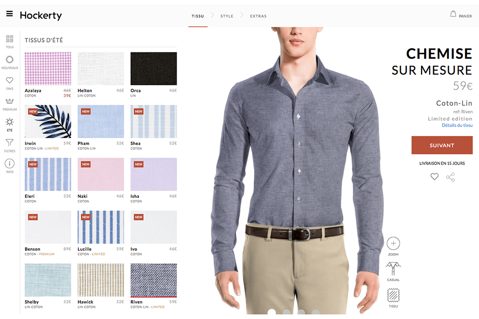 choix tissu chemise hockerty