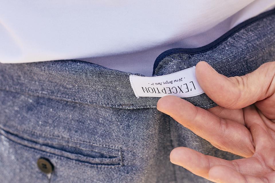 Pantalon Costume Exception Etiquette Dos