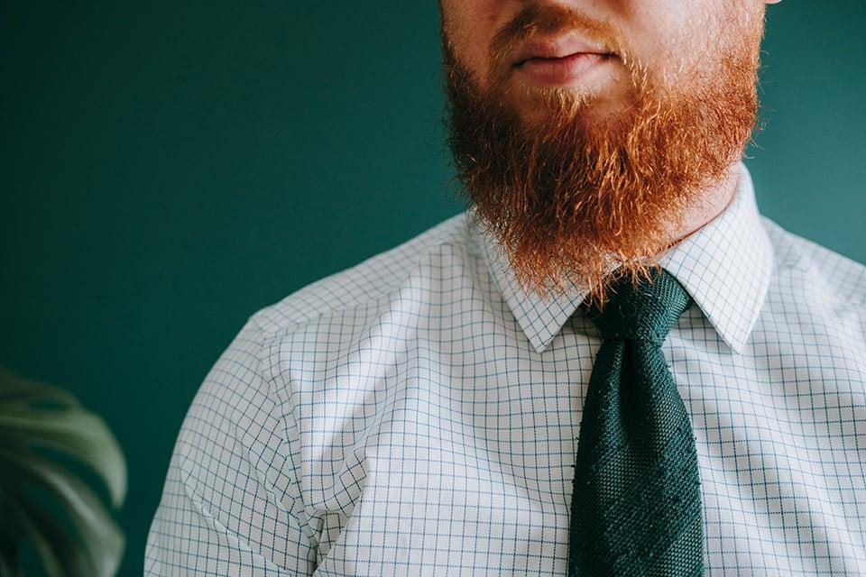 Porter Cravate Noeud Large