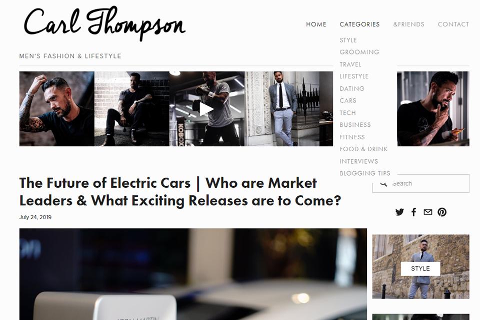 Blog Anglais Carl Thompson