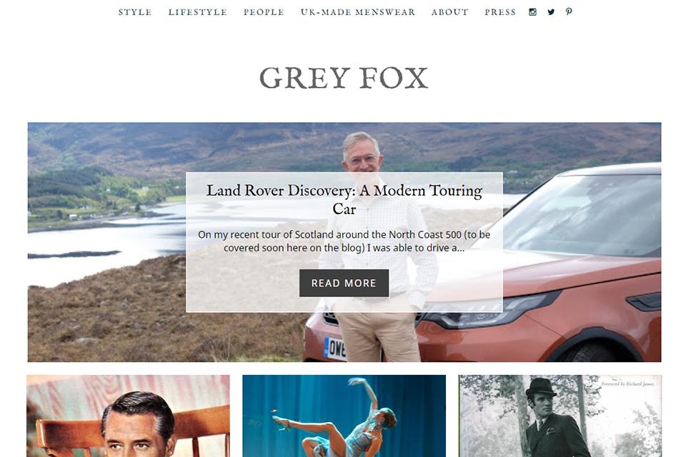 Blog Anglais Grey Fox