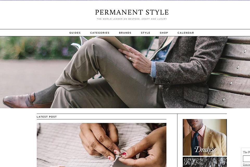 Blog Anglais Permanent Style