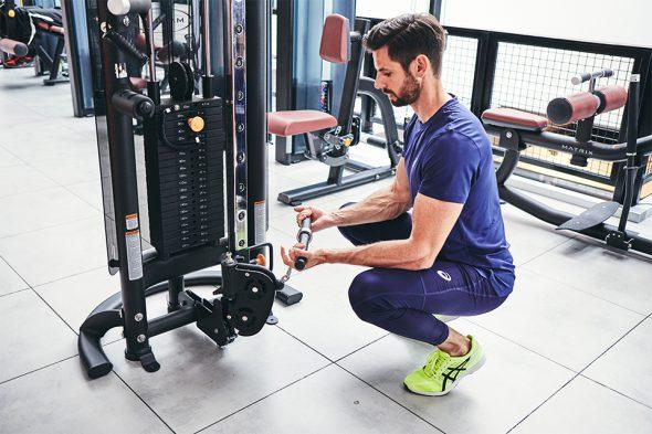 exercices pour developper ses biceps curl poulie position depart