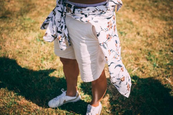 Festival look chemise devred short