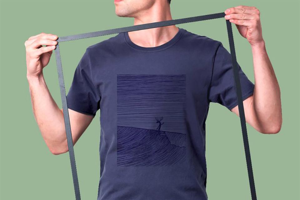 t-shirt step art imprimé