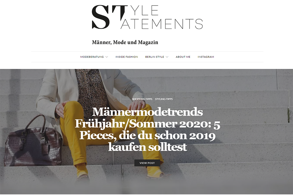 Blog allemand Style Statements